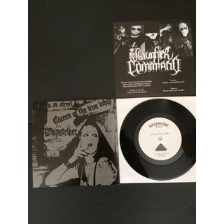 WHIPSTRIKER / SLAUGHTER COMMAND - CONDEMNED TO THE GRAVE / QUEEN OF THE IRON WHIP SPLIT 7 VINYL